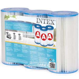 """Intex, Картридж """"А"""" (блок из 3шт) для фильтр-насосов 28604, 28638, 28636 и хлоргенератора 28674"""