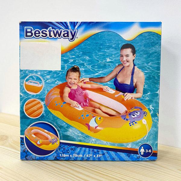 BW, Bestway, Надувная лодочка Крабики 137х89см, уп.12