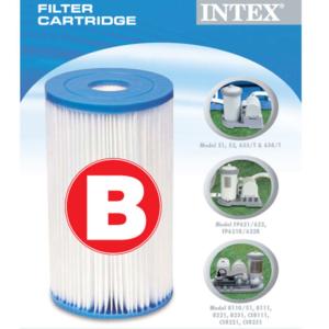 Сменный фильтр-картридж для насосов (тип B) Intex, уп.6