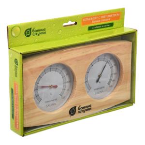 Термометр с гигрометром Банная станция 24.5х13.5х3см