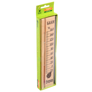 "Термометр для бани и сауны ""Баня"" 27х6.5х1.5см"