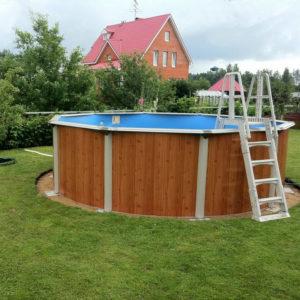 Морозоустойчивый круглый бассейн Atlantic pool Esprit-Big (4,6 х1.35), полный комплект
