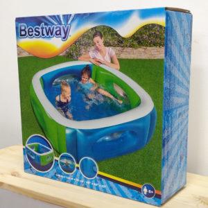 Детский надувной бассейн Bestway 51132 (168 х 168 х 56см) 565 л, с окошками